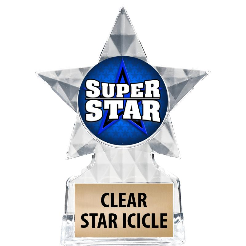 """5 3/4"""" Clear Icicle Star Insert Trophy"""