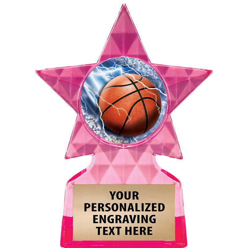 PINK ICICLE INSERT STAR TROPHY