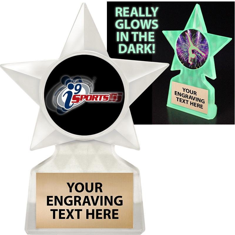 GLOW ICICLE INSERT STAR TROPHY