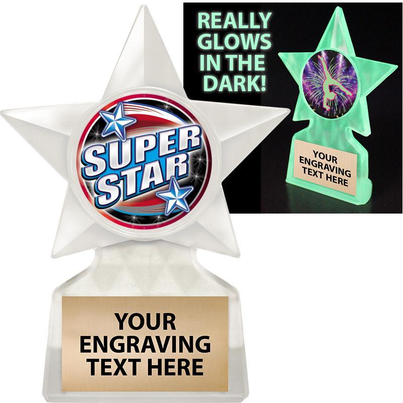 "5 3/4"" Glow In The Dark Star Insert Trophy"