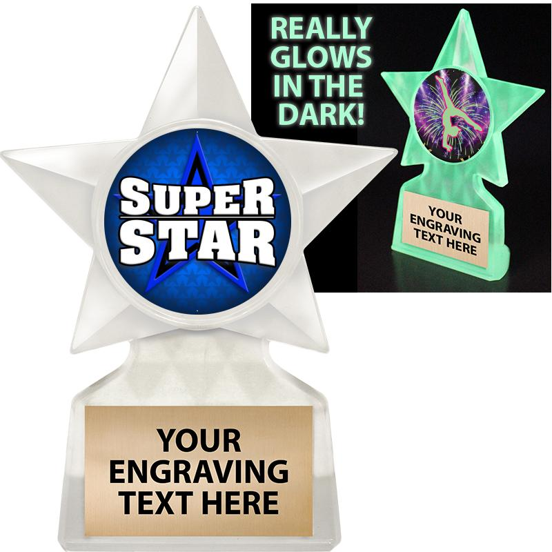 "5 3/4"" Glow In The Dark Star Insert Trophy"