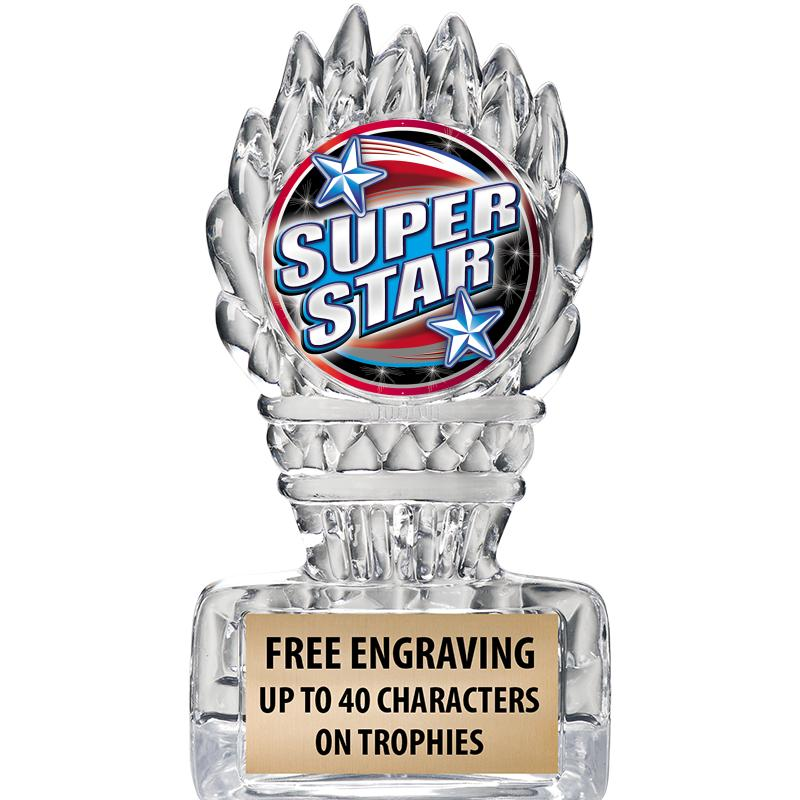 "5"" Clear Icicle Torch Insert Trophy"