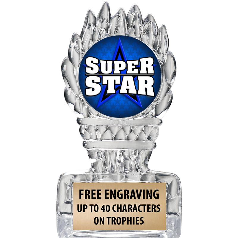"""5"""" Clear Icicle Torch Insert Trophy"""