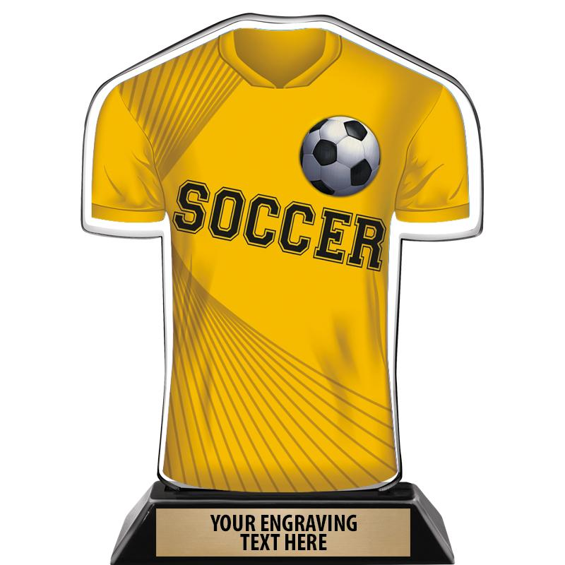 """7"""" SOCCER JERSEY FRONT ACRYLIC"""
