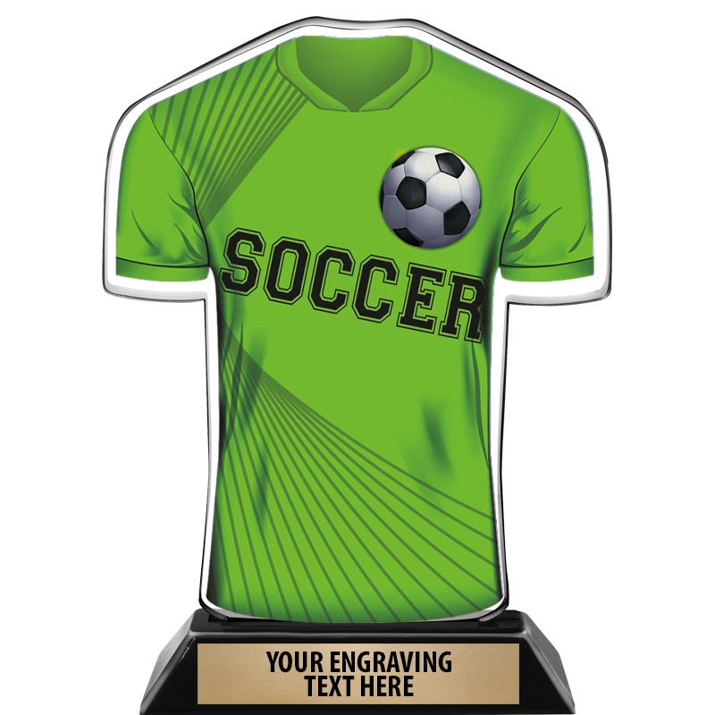 "7"" SOCCER JERSEY FRONT ACRYLIC"