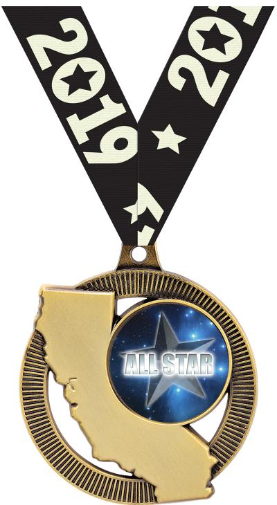 """2"""" California State Insert Medals"""