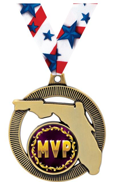 "2"" Florida State Insert Medals"