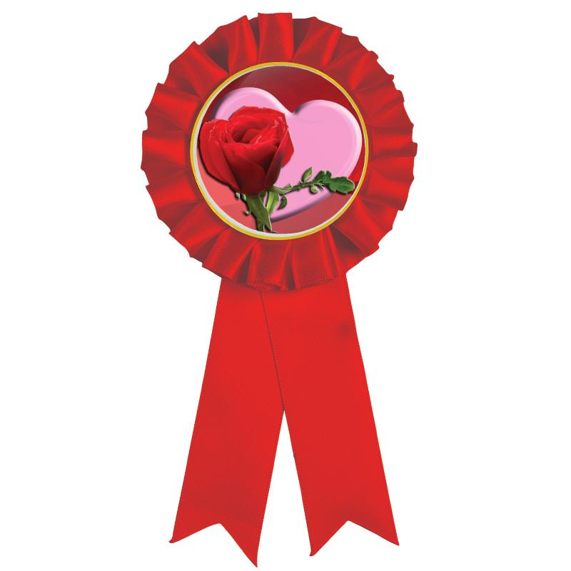 Red Rosette Party Favor