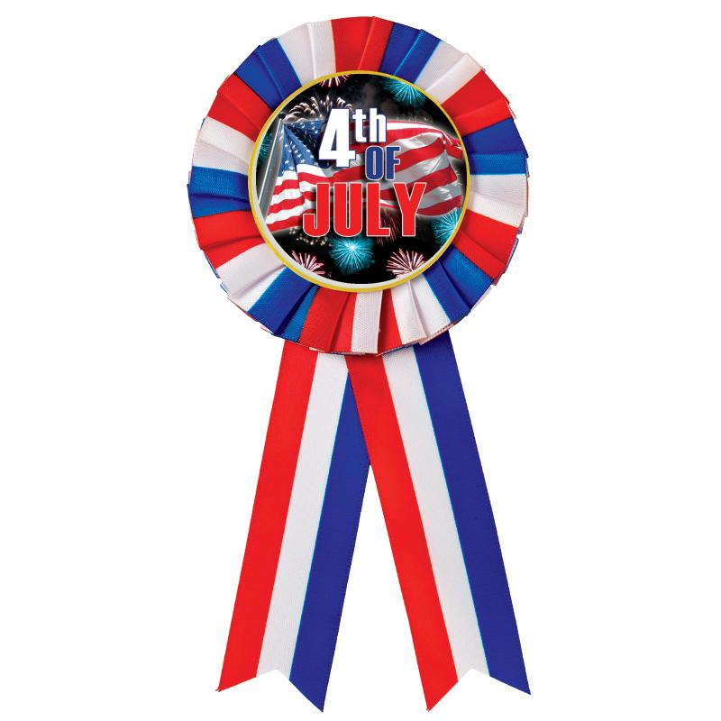 Red, White, & Blue Rosette Party Favor