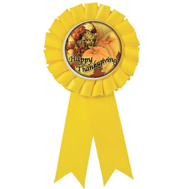Yellow Rosette Party Favor