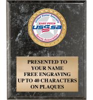 USSSA Black Marbleized Plaques