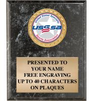 USSSA Black Marbleized Plaques