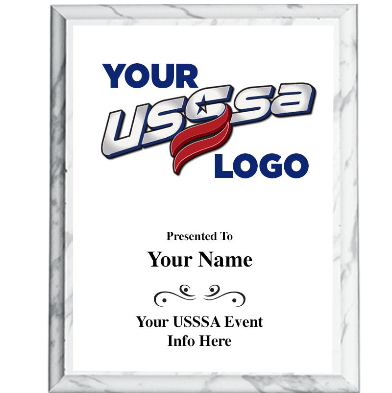 White Color Printed Plaques