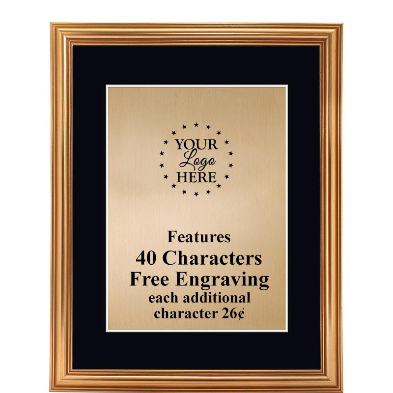Gold Traditional Frame Plaque