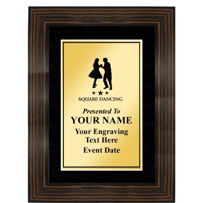 Macassar Frame Plaque With Black Matting