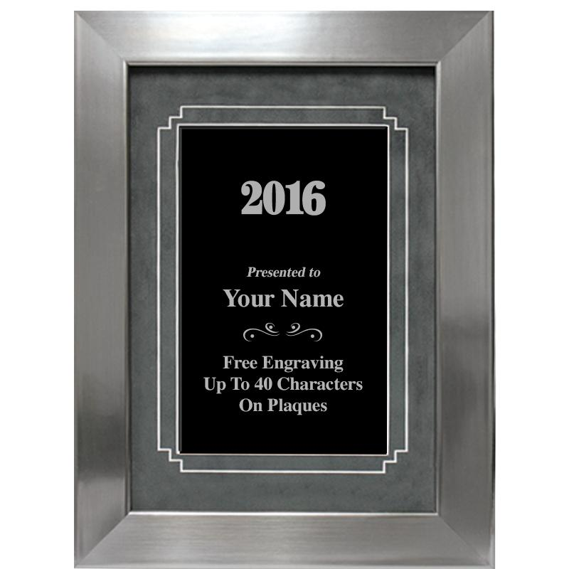Silver Frame Plaque With Grey Matting