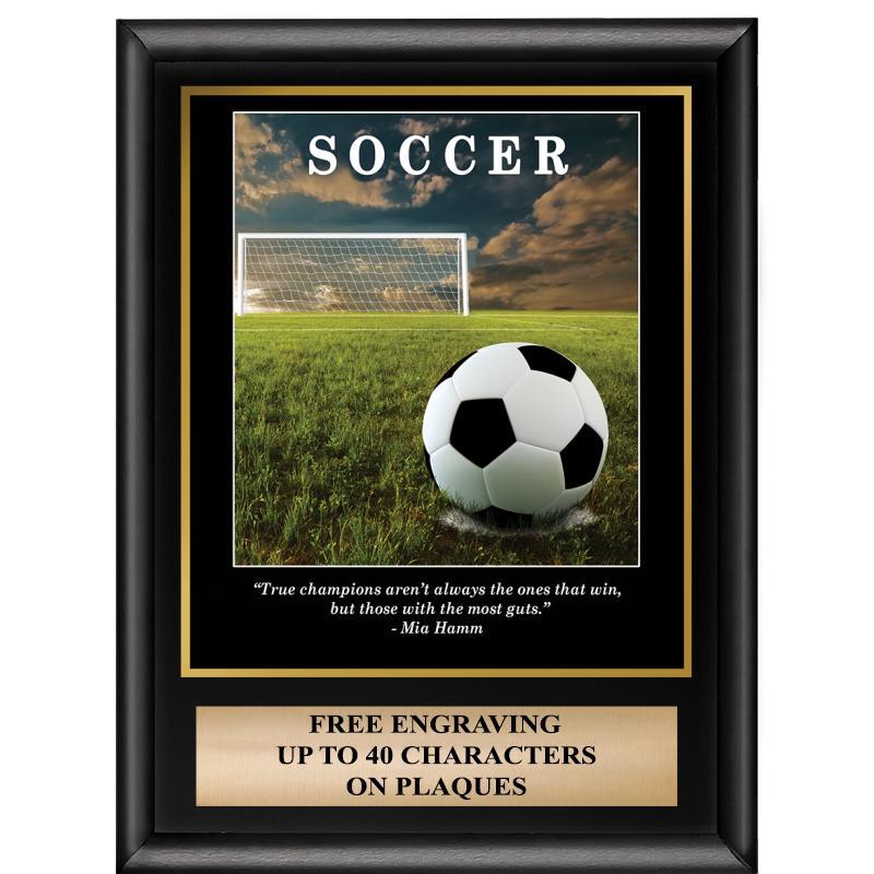 Soccer Inspirational Plaque