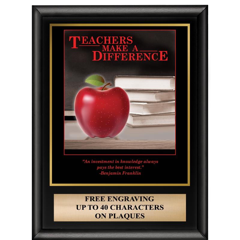 Teachers Make A Difference Inspiration Plaque