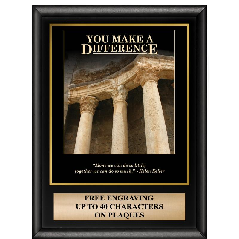 You Make A Difference Inspiration Plaque