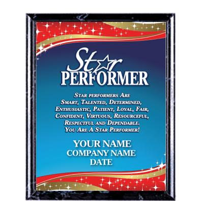 Star Performer Recognition Commendation Plaques