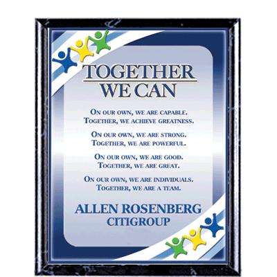 Together We Can Recognition Commendation Plaques