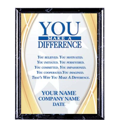 You Make A Difference Recognition Commendation Plaques