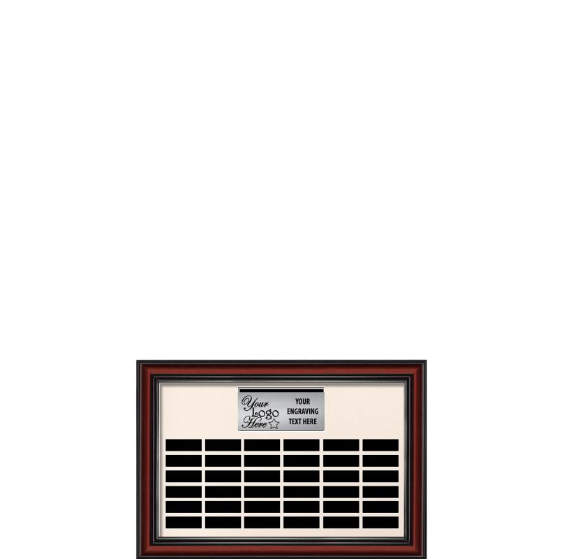 36 Plate Landscape Frame Perpetual Plaque