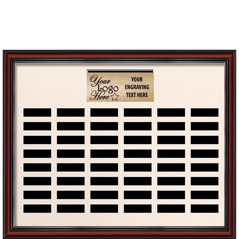 48 Plate Landscape Frame Perpetual Plaque
