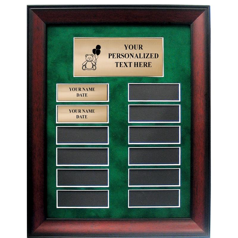Golf Perpetual Plaque With Green Velveteen Matting
