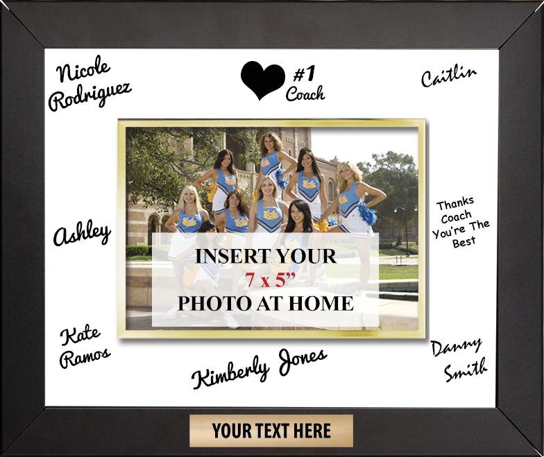 Team Photo Plaques | Horizontal Signature Frame Plaque
