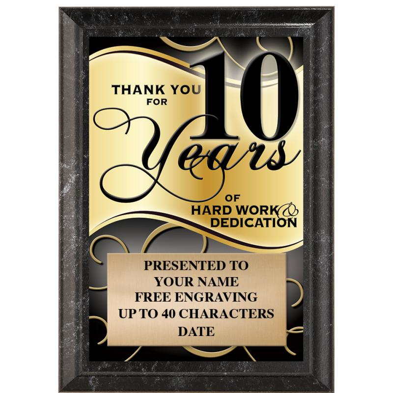 Thank You For 10 Years Of Hard Work & Dedication
