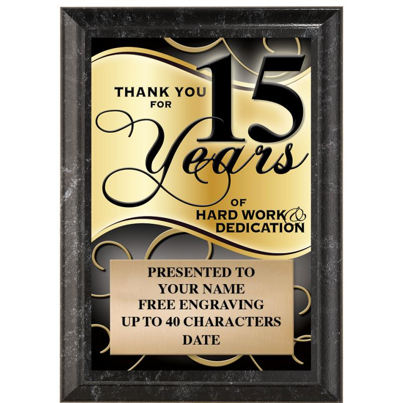 Thank You For 15 Years Of Hard Work & Dedication