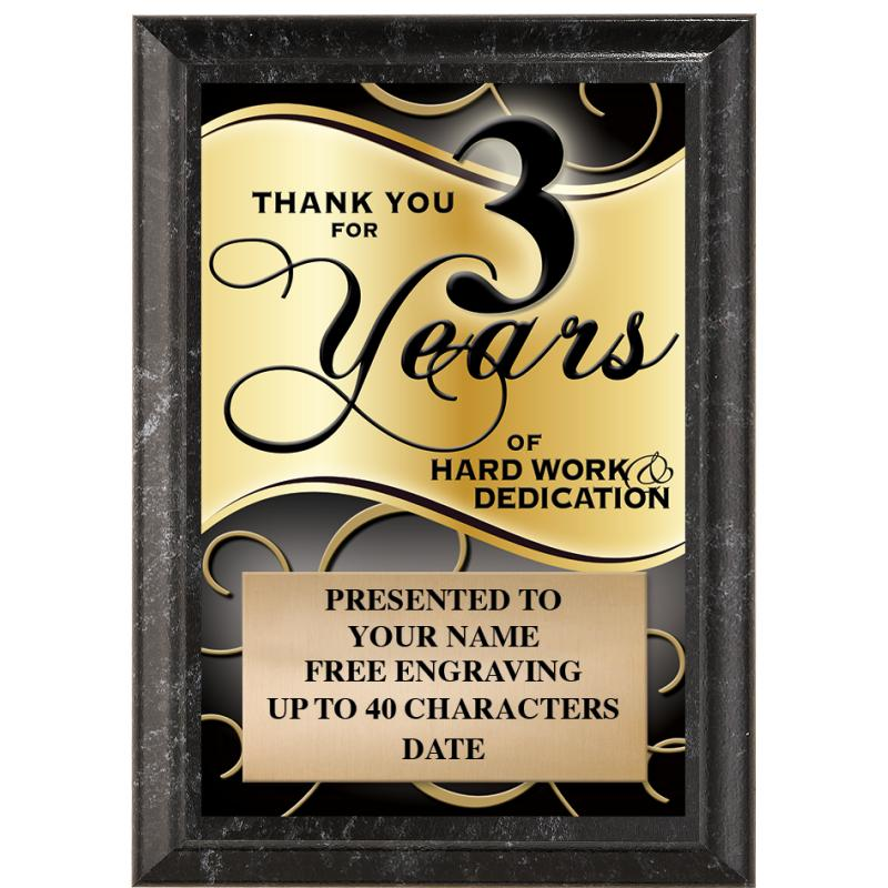 Thank You For 3 Years Of Hard Work & Dedication
