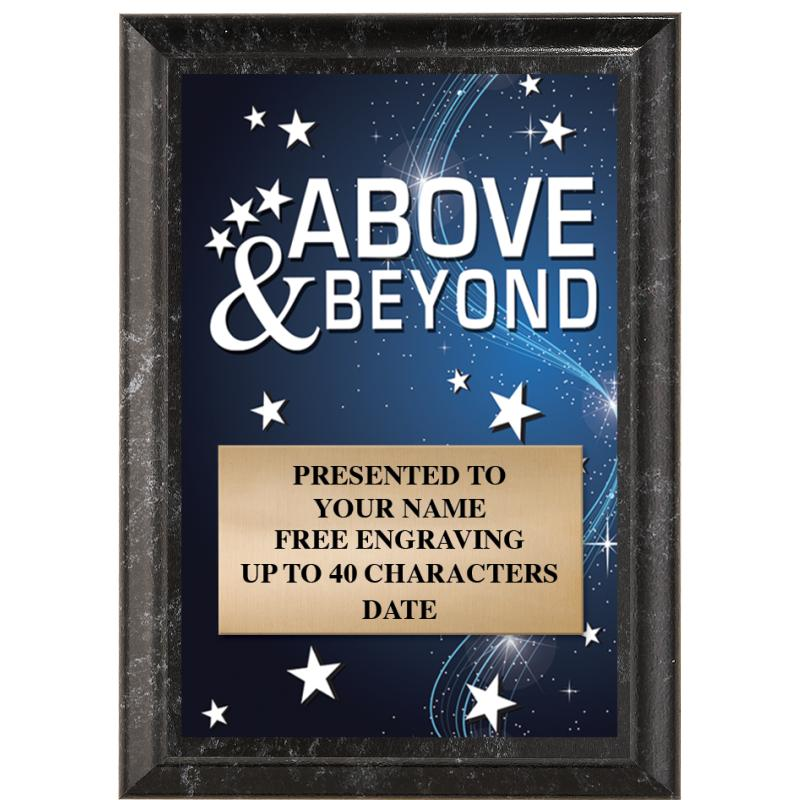 Above & Beyond Show Stopper Plaque