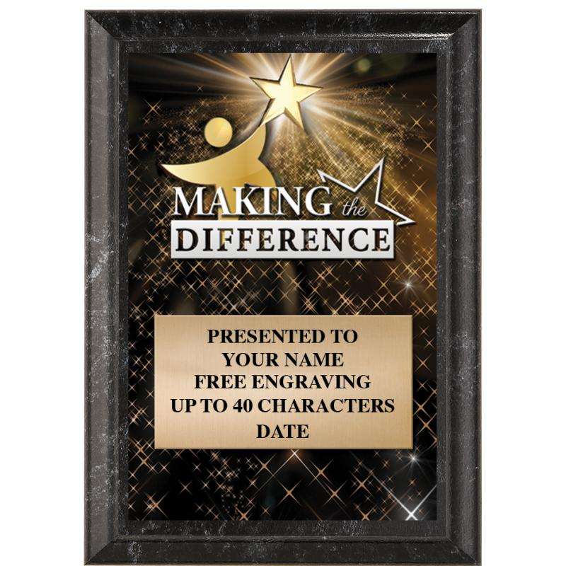 Making The Difference Show Stopper Plaque