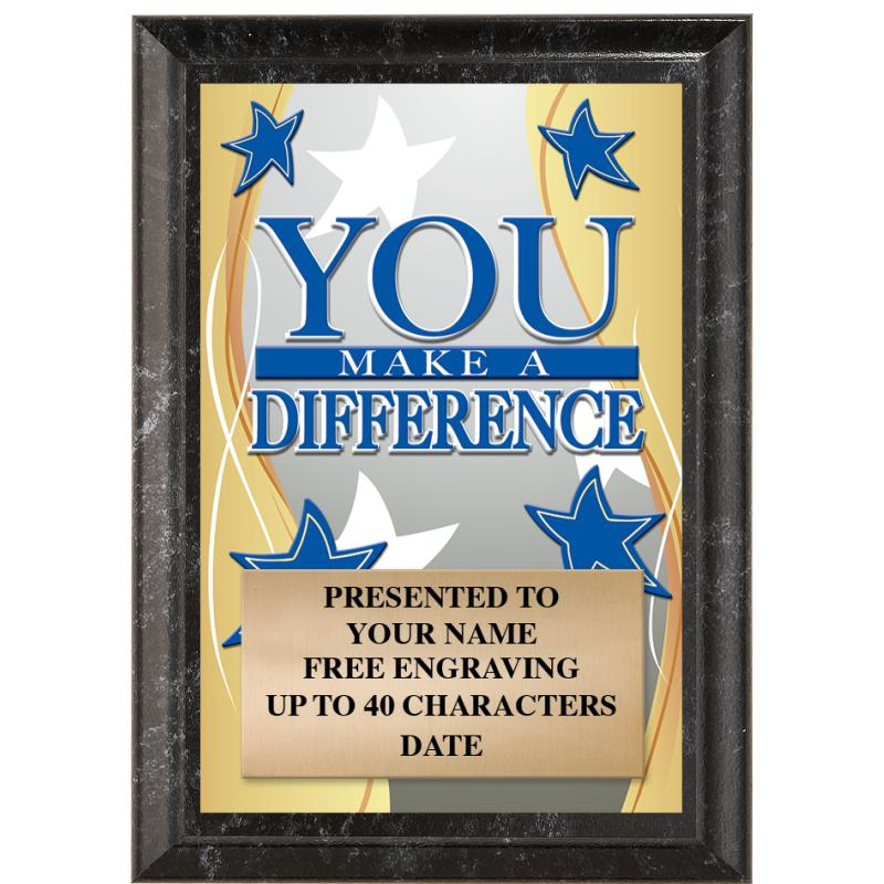 You Make A Difference Recognition Show Stopper Plaque