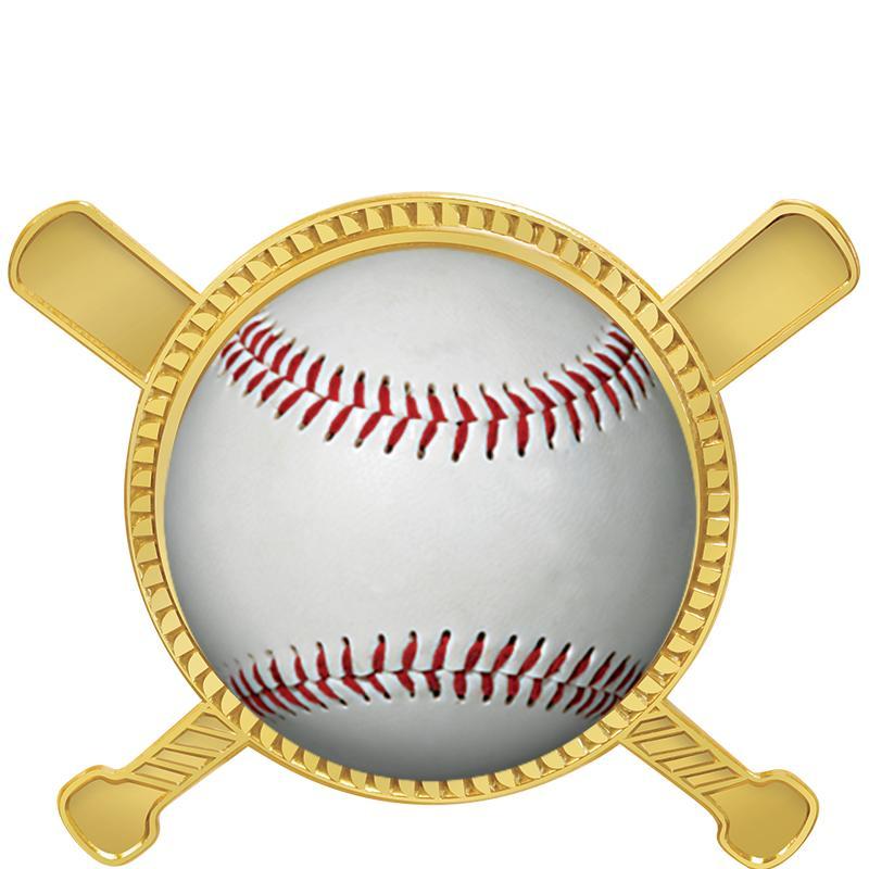 "1 3/4"" Baseball Crossed Bats Insert Pin"
