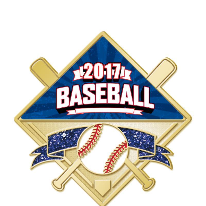 Baseball Glitter Insert Pin