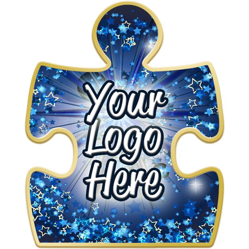"""1 1/4"""" Puzzle Piece Pin"""