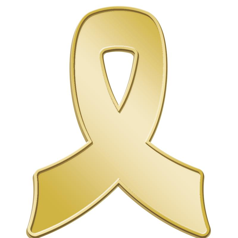 "1"" AWARENESS INSERT PIN GOLD"