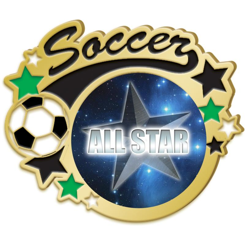Gold Soccer Insert Pin