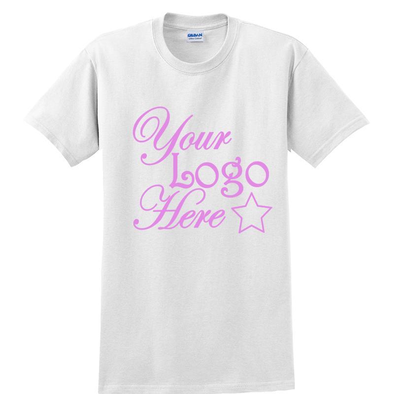 Short Sleeve White T-Shirts One Color Logo