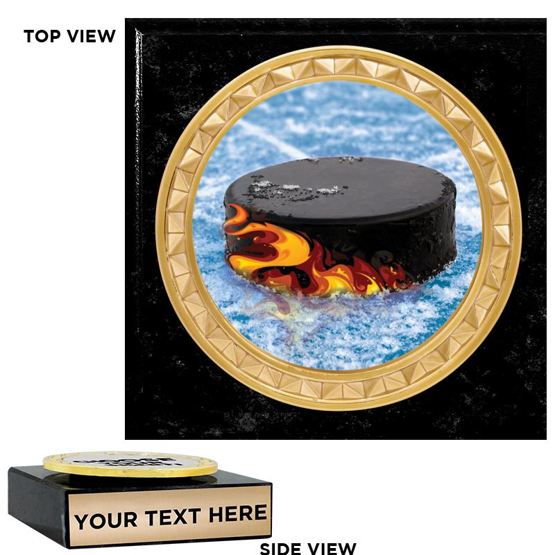 """3""""x3"""" BLACK MARBLE PAPERWEIGHT"""