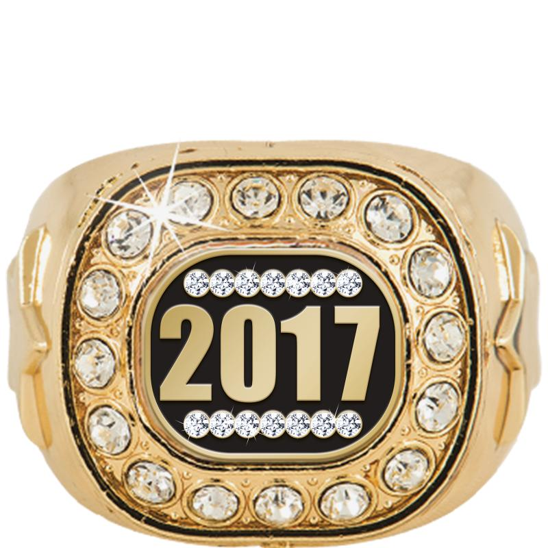 Gold Crystal Champion Insert Ring