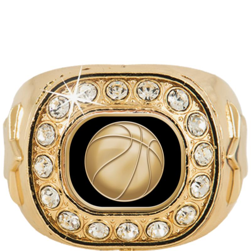 Gold Crystal Champion Insert Ring