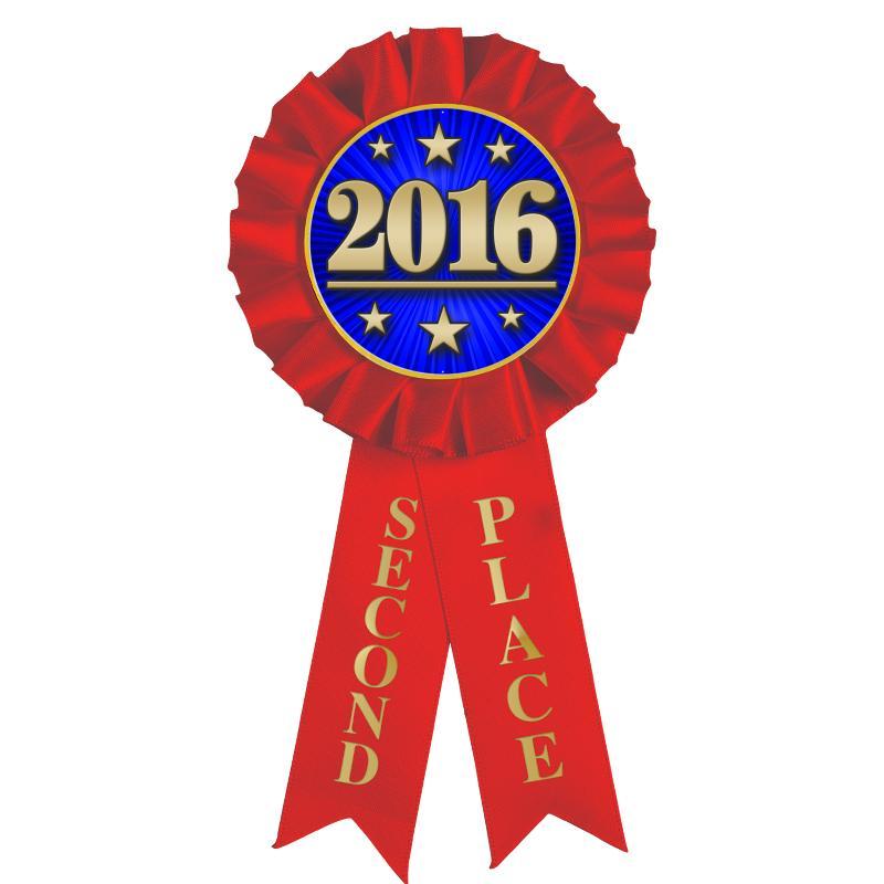 2nd Place Rosette Ribbon
