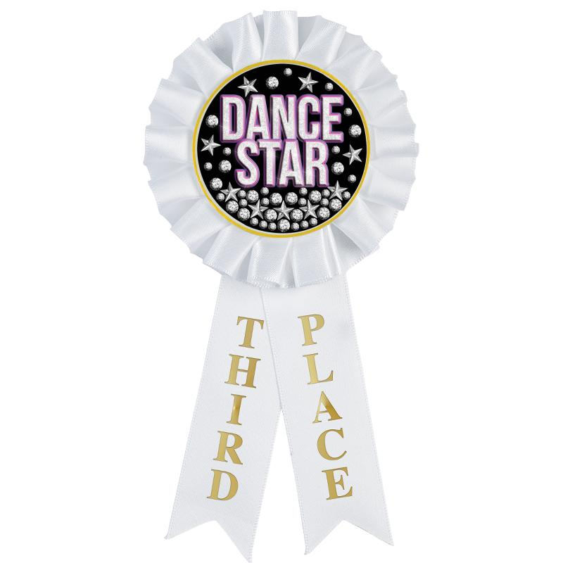 3RD PLACE MYLAR ROSETTES
