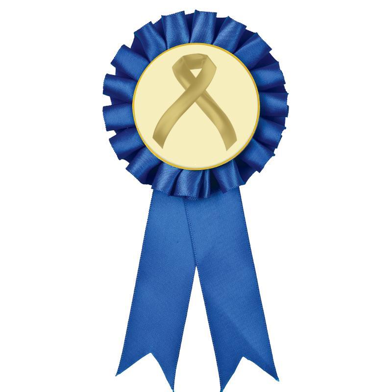 Blue Rosette Ribbon