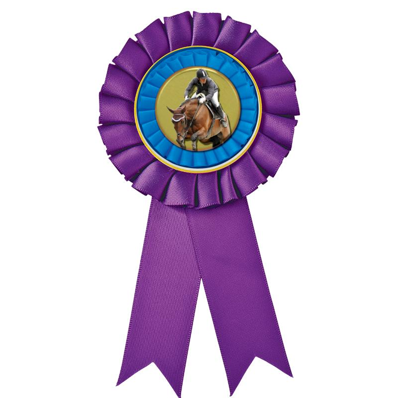 PURPLE MYLAR ROSETTES