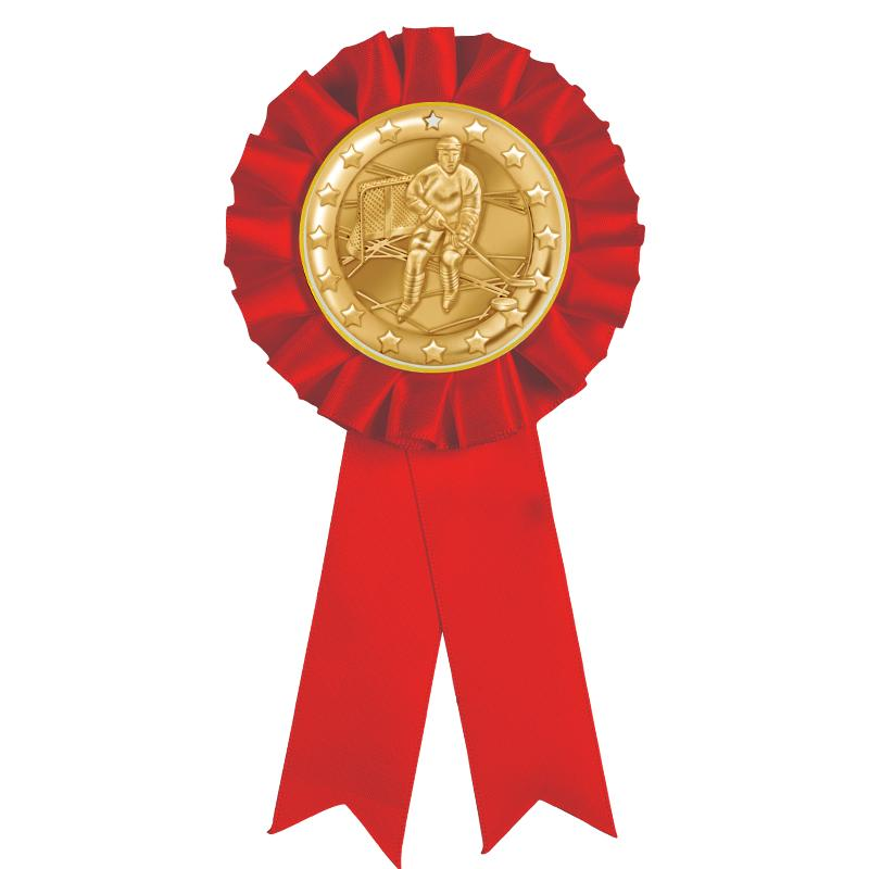 RED MYLAR ROSETTES